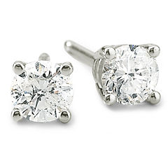 1/2 CT. T.W. Round Diamond Studs 14K Gold
