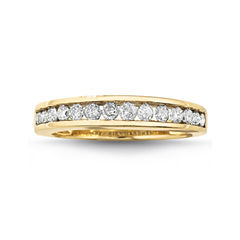 1/2 CT. T.W. Diamond 10K Gold Wedding Band