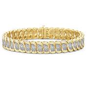 Diamond Bracelet 1/10 CT. T.W. 14K/Silver