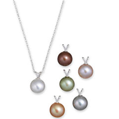 9-10mm Cultured Freshwater Pearl Pendant Necklace Set
