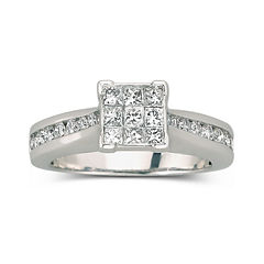 1 CT. T.W. Diamond Engagement Ring 10K White Gold