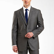 JF J.® Ferrar 2-Button Gray Sharkskin Suit Jacket - Classic