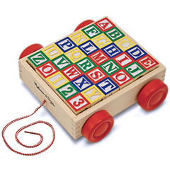 Melissa & Doug® Classic Alphabet Blocks with Cart