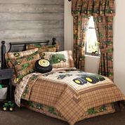 John Deere® Tractor and Plaid Comforter