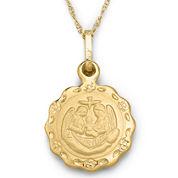 Childrens 14K Gold Baptism Pendant Necklace