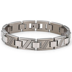 Men's Diamond Bracelet 1/10 CT. T.W. Stainless