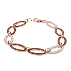 Rose 'N Chocolate Link Crystal Bracelet