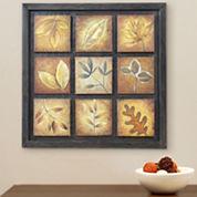 9-Panel Leaf Wall Art