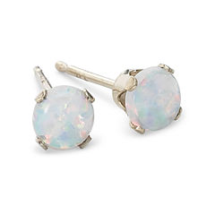 Lab-Created Opal Stud Earrings