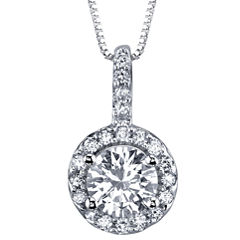Simulated Diamond, Diamonore™ Pendant 1.2 CT. T.W. Necklace