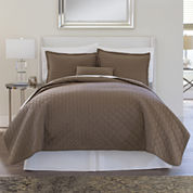 Royal Velvet® 400tc WrinkleGuard Quilted Coverlet & Accessories