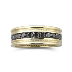 tw black diamond ring 14k gold over silver - Jcpenney Wedding Rings