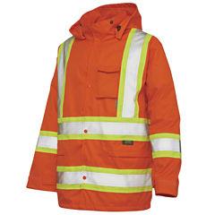 Work King High-Visibility Rain Jacket–Big & Tall