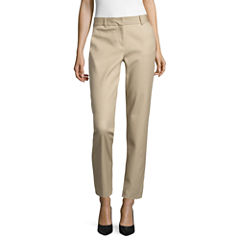 Liz Claiborne Double-Cotton Emma Fit Ankle Pants