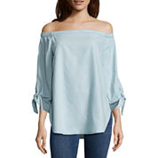 a.n.a. 3/4 SLEEVE COLD SHOULDER BLOUSE