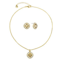 Monet® Champagne Crystal Earring and Necklace Set