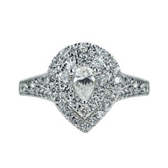 Modern Bride Signature Womens 1 CT. T.W. Pear White Diamond 14K Gold Engagement Ring