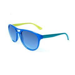 Blue and Green Aviator Sunglasses