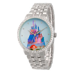 Disney Disney Princess Womens Silver Tone Bracelet Watch-Wds000066