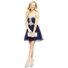 Jewel-Trim Dress, Strappy Sandals, Clutch, Earrings or Bracelet