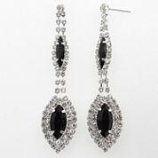 Vieste Rosa Black Brass Drop Earrings