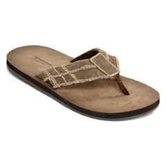 Arizona Aruba Mens Canvas Flip Flops