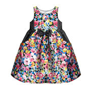 Marmallata Floral-Print Shantung Dress - Preschool Girls 4-6x
