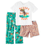 Carter's Boys 3-pc. Long Sleeve Pant Pajama Set-Baby