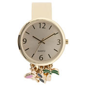 Mixit Womens Gold Tone Bangle Watch-Jcp2978gpt
