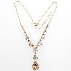 Vieste Rosa Womens Pink Y Necklace
