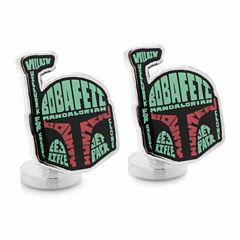 Star Wars™ Boba Fett Typography Cuff Links
