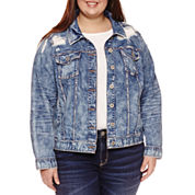 Arizona Oversized Denim Jacket-Juniors Plus