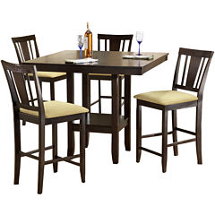 Arcadia 5-pc. Dining Set with Counter Stools