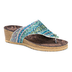 Muk Luks® Sue Ellen Wedge Sandals