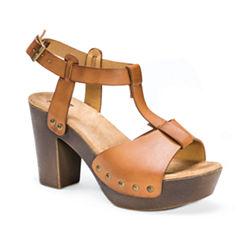 Muk Luks Gindy Womens Heeled Sandals