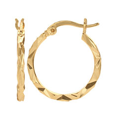 Gold Reflection Gold Over Brass Hoop Earrings