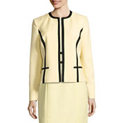 Black Label by Evan-Picone Long Sleeve Contrast Trim Jacket with Pencil Skirt