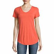 a.n.a Short Sleeve U Neck T-Shirt-Talls