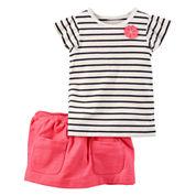 Carter's Girls 2-pc. Short Sleeve Skirt Set