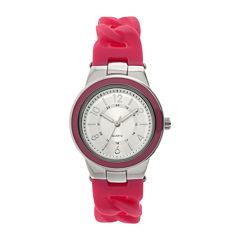 Womens Pink Braid Strap Watch