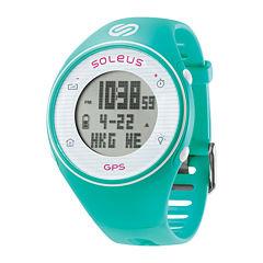 Soleus GPS One Teal Silicone Strap Running Digital Sport Watch
