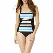 St. John's Bay® Striped Tankini Swim Top or Swim Bottoms