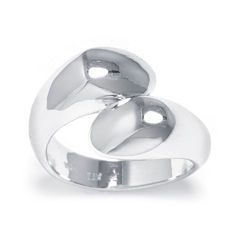 Sterling Silver Crossover Ring