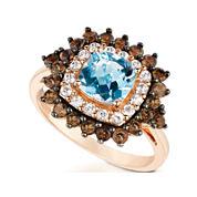 LIMITED QUANTITIES  Le Vian Grand Sample Sale Genuine Aquamarine and Brown Quartz Ring