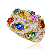 LIMITED QUANTITIES  Le Vian Grand Sample Sale Genuine Multicolor Sapphire Ring