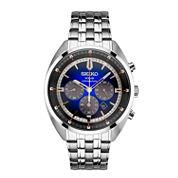 Seiko Recraft Mens Silver Tone Bracelet Watch-Ssc567