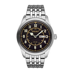 Seiko Recraft Mens Silver Tone Bracelet Watch-Sne445