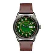 Seiko Recraft Mens Brown Strap Watch-Sne448