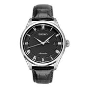 Seiko Mens Black Strap Watch-Srpa97