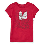 Disney Girls Short Sleeve Minnie Mouse T-Shirt-Big Kid